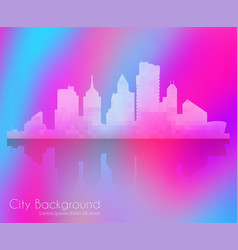 silhouette city structure downtown urban modern vector image