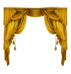 Silk velvet theatrical curtain with folds vector