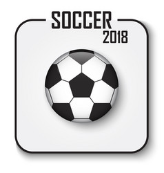 Soccer cup 2018 single icon convex style vector