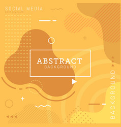 Social media post template abstract background vector