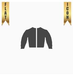 sports jacket flat icon vector image