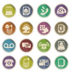 Telephone Icon Set vector