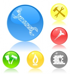 tool icon buttons vector image