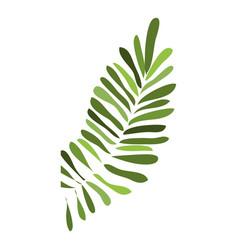 Tropical leaf icon cartoon style vector