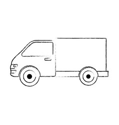 truck car isolated icon vector image