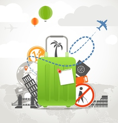 Vacation travelling vector image