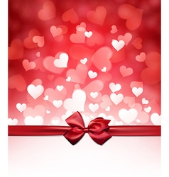 Valentines background with bow vector