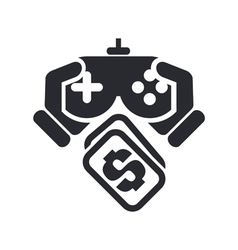 videogame price icon vector image