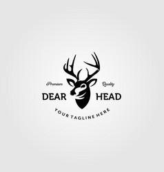 vintage cool deer head logo emblem design vector image