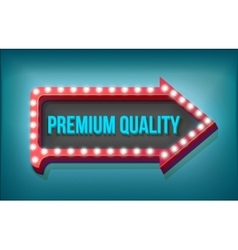 Volume retro arrow with lights Premium Quality vector image