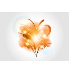 abstract flower orange light vector image