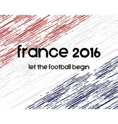France 2016 Football poster Retro stylish France vector image vector image