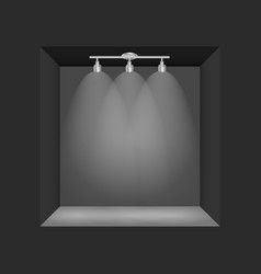 Exhibition concept black empty box frame with vector