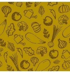 garden farm vegetables and fruit seamless vector image vector image