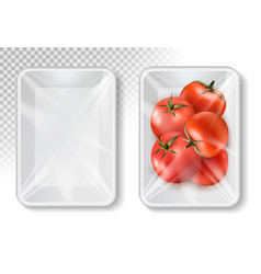 polypropylene plastic packaging for vegetables - vector image vector image