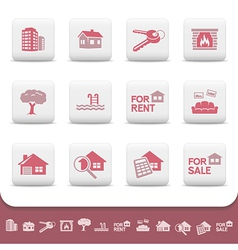 Professional real estate icons vector image vector image