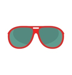 red glasses isolated on white background vector image vector image