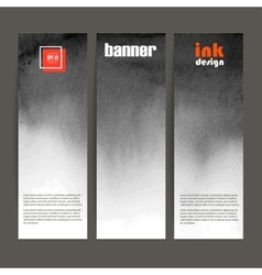 set of three banners black spots on the wet ink vector image vector image