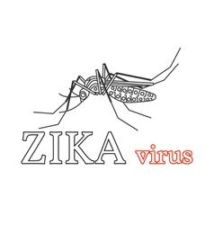 Zika virus symbol isolated thin line icon vector