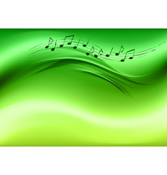 abstract music green vector image vector image
