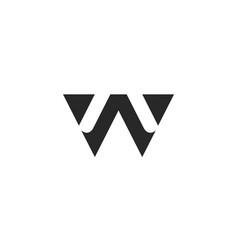 letter w logo alphabet icon set vector image vector image