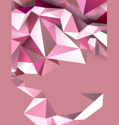 pastel color geometric abstract banner modern vector image vector image