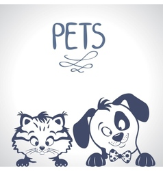 Pets silhouette vector