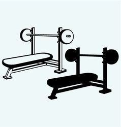Weight bench for chest flat vector image vector image