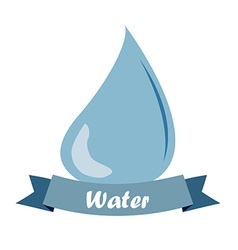 A single drop of water and a ribbon with text vector