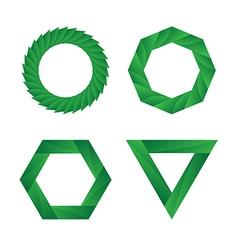 Abstract green geometric Infinite loop icon set vector image