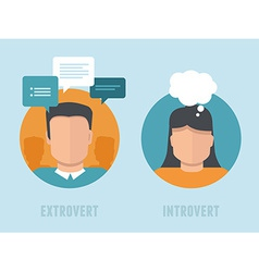extraversion-introversion infographics in flat vector image vector image
