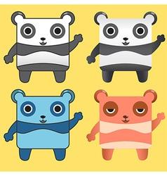 Gang Panda vector image