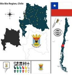 Map of Bio Bio vector image