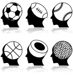 Sport heads vector image vector image