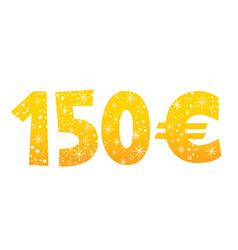 150 euros sign vector