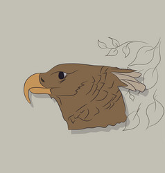 a portrait of an eagle drawing vector image