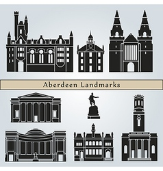 aberdeen landmarks and monuments vector image