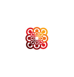 Abstract logo depicting the stylized people vector