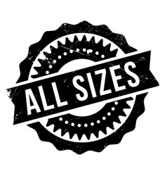 All sizes rubber stamp vector