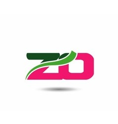 Alphabet Z and O letter logo vector image