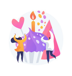 Anniversary celebration concept metaphor vector