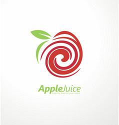 apple juice logo design concept vector image