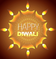 Artistic diwali background vector
