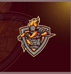 assassin mascot logo vector image