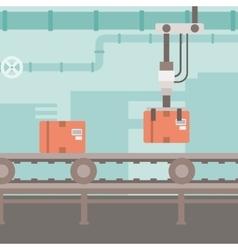Background of conveyor belt vector image
