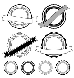 Badge decorations vector