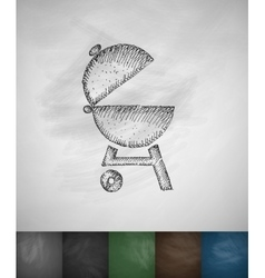 barbecues icon Hand drawn vector image