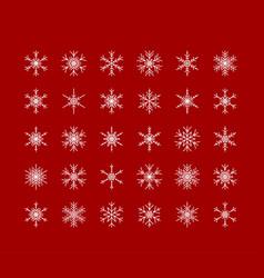 Big set of snowflakes winter christmas xmas vector
