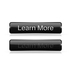 Black button learn more active and normal vector
