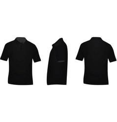 Black polo t shirt vector